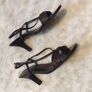 Strappy heels, size 9